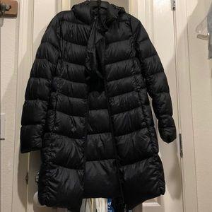 Uniqlo women ultra light long down jacket black S